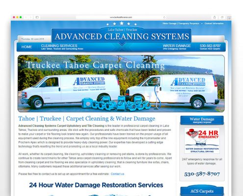 Advanced Cleaning Systems | SG Designs | Tahoe Web Design