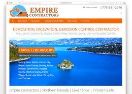 Empire Contractors | SG Designs | Tahoe Web Design
