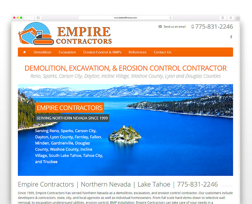 Empire Contractors | SG Designs | Tahoe Web Design
