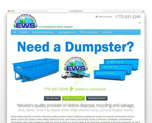 Empire Waste Systems | SG Designs | Tahoe Web Design