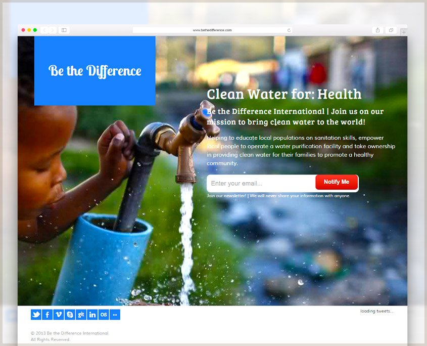 Be The Difference International | SG Designs | Tahoe Web Design