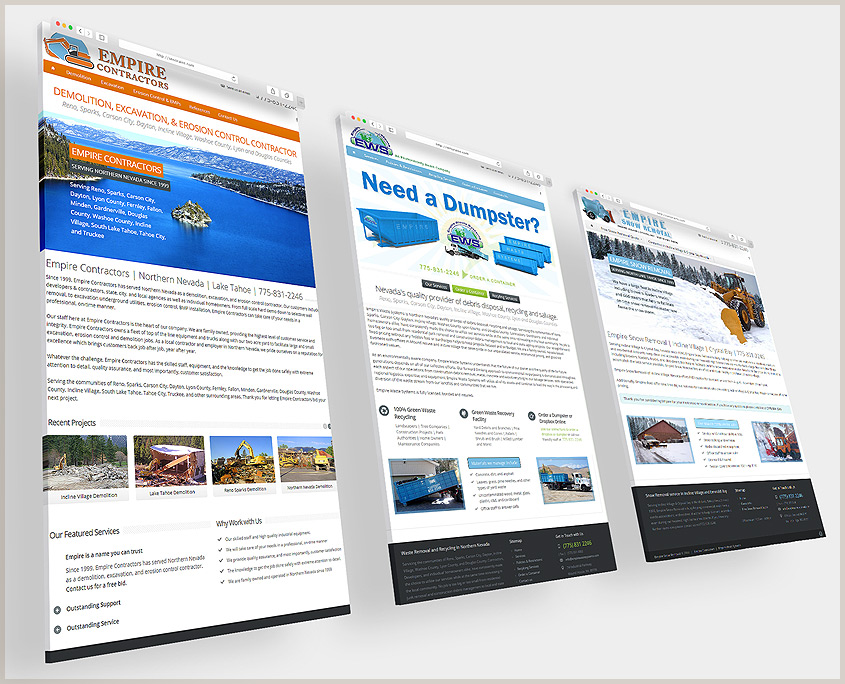 www EmpireContractors com – SG Designs | Tahoe Web Design