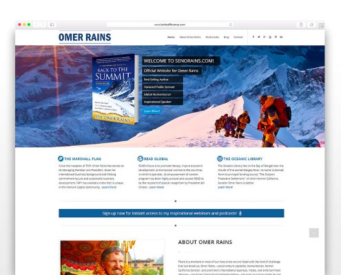 Senorains Omer Rains | SG Designs | Tahoe Web Design
