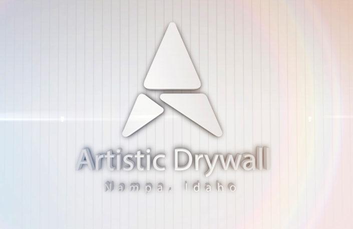 Artistic Drywall Logo Reveal