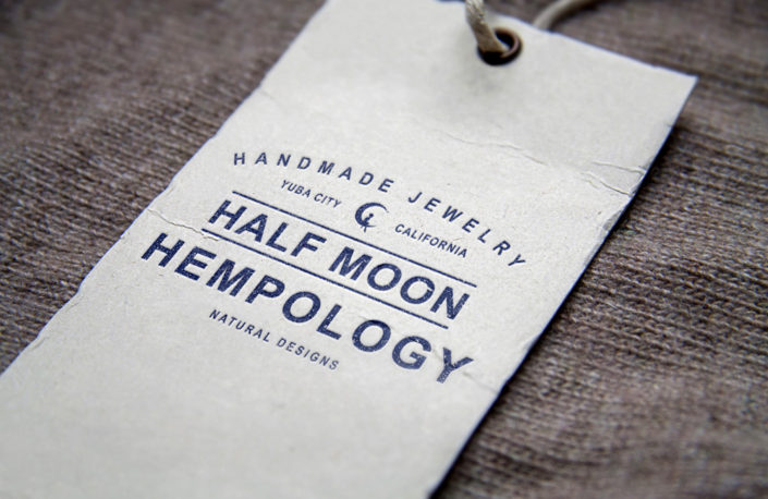 Half Moon Hempology Tag Design
